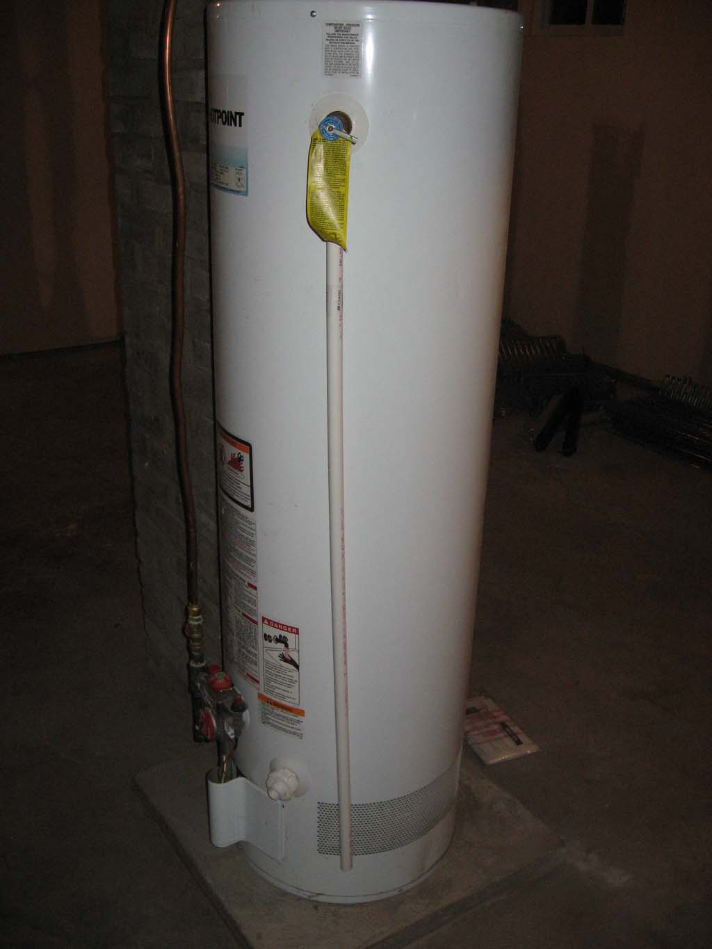 Water heater discharge pipe the house strikes back for Water heater pipe